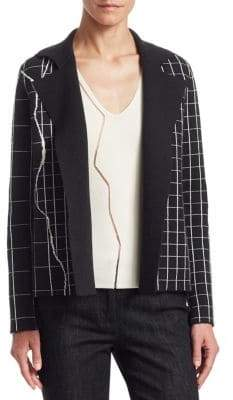Akris Marble Tile Print Reversible Jacket