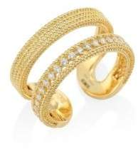 Roberto Coin Double Symphony Diamond& 18K Yellow Gold Ring