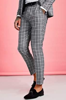 boohoo Jaspe Skinny Fit Check Suit Trouser