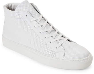 Replay Supply Lab White Deacon Perforated High-Top Sneakers