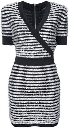 Balmain wrap V-neck dress