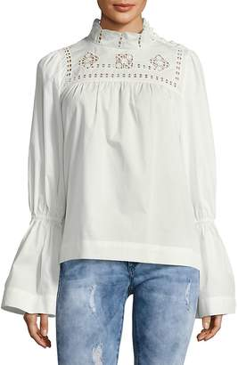 Free People Women's Another Eternity Bell-Sleeve Cotton Top