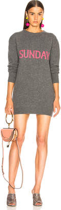 Alberta Ferretti Sunday Crewneck Sweater Dress in Grey & Pink | FWRD