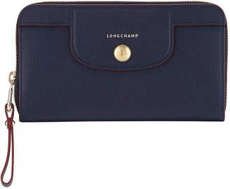 Longchamp Le Pliage Heritage Saffiano Leather Zip Wallet