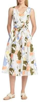 Lafayette 148 New York Aileen Printed Cotton Midi Dress