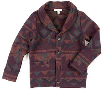 Appaman Shelby Geometric Knit Cardigan Sweater, Size 2-10