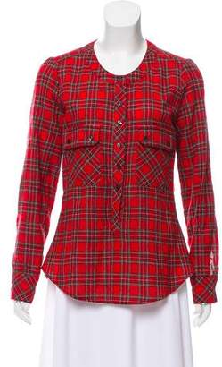 Ulla Johnson Virgin Wool Tartan Top
