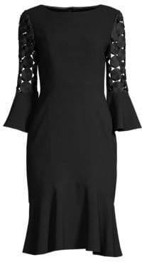 Elie Tahari Bri Flute Sleeve Dress