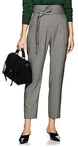 Pt01 Women's Cris Birdseye Wool Belted Trousers - Black