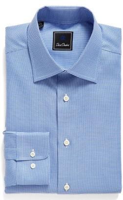 Men's David Donahue Regular Fit Houndstooth Dress Shirt $135 thestylecure.com