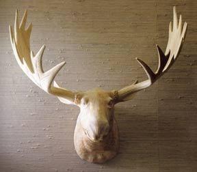 Roost Carved Wood Moose Head
