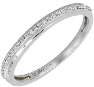 Bony Levy 18K White Gold Pave Diamond Band Ring - Size 6.5 - 0.09 ctw