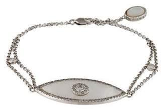 Mother of Pearl 14K & Diamond Evil Eye Bracelet