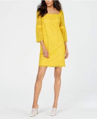 7b27633443 Yellow Lace Shift Dresses - ShopStyle