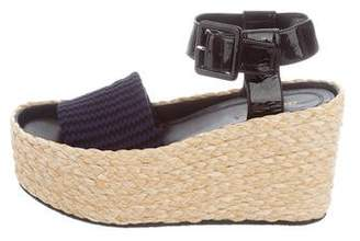 Celine Woven Wedge Sandals w/ Tags