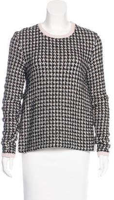 Christian Dior Patterned Scoop Neck Sweater