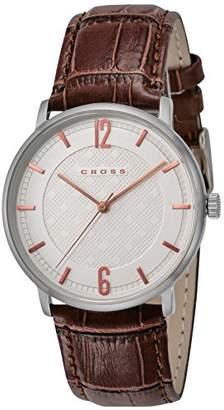 Cross [クロス 腕時計 シルバー文字盤 カーフレザーベルト CR8053-05 メンズ 【正規輸入品】