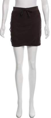 Burberry Mesh-Accented Mini Skirt