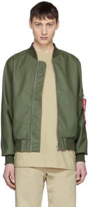 Stutterheim Green Alpha Industries Edition MA-1 Bomber Jacket