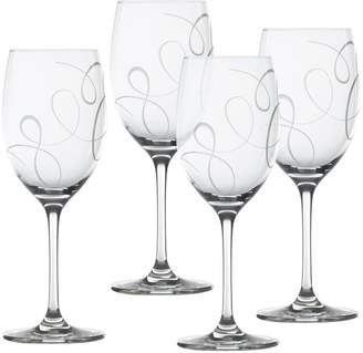 Mikasa Set of 4 Crystal Wine Glasses