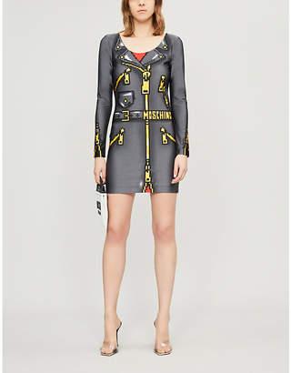 Moschino Graphic-Print Stretch-Jersey Mini Dress