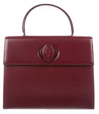 Cartier Leather Top Handle Bag