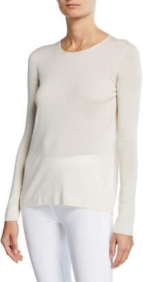 Akris Long-Sleeve Jewel-Neck Pullover