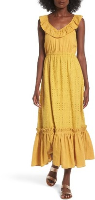 Women's Moon River Eyelet Midi Dress $110 thestylecure.com