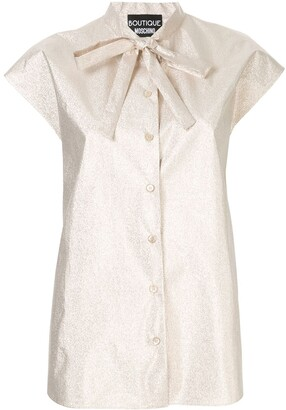 Moschino metallic button down blouse