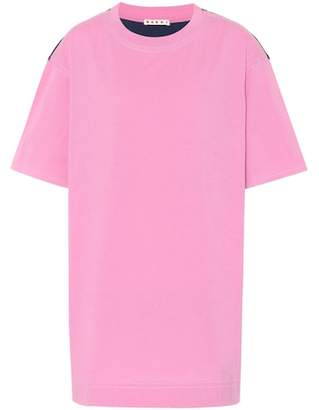 Marni Jersey and satin T-shirt