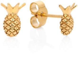 Lee Renee Pineapple Stud Earrings