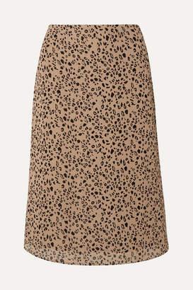 Reformation Mia Leopard-print Georgette Midi Skirt - Leopard print