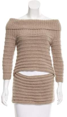 VPL Wool Off-The-Shoulder Sweater