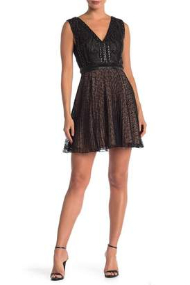 French Connection Florence V-Neck Lace Dress