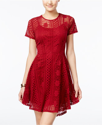 American Rag Lace Fit & Flare Dress, Only at Macy's $69.50 thestylecure.com