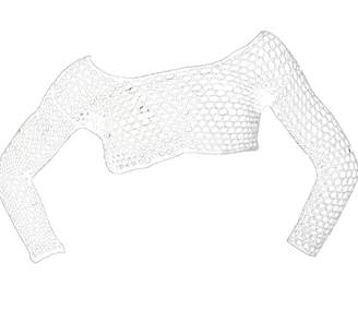 Crokini Swim Crochet Crop Top In White