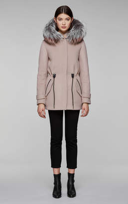 Mackage ALEXA wool coat with hood and removable fur