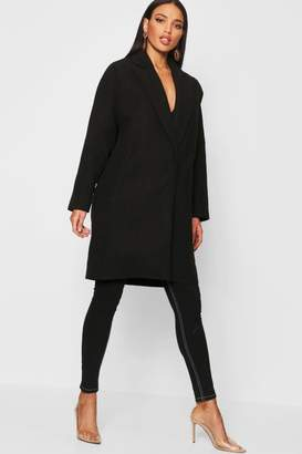 boohoo Tailored Collared Wool Look Coat