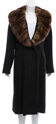 Yves Salomon Sable-Trimmed Cashmere Coat w/ Tags
