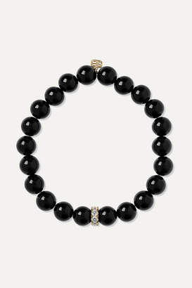 Sydney Evan Onyx, Diamond And 14-karat Gold Bracelet