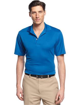 PGA Tour Men Big and Tall Airflux Solid Golf Polo Shirt