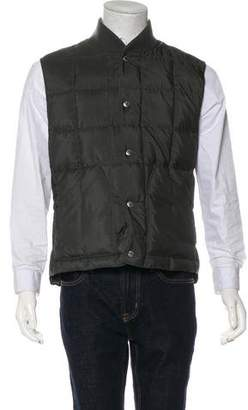 Brunello Cucinelli Wool & Silk Reversible Quilted Gilet