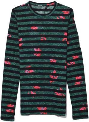 Proenza Schouler Long Sleeve Tissue Jersey T-Shirt in Poppy/Spruce Lily