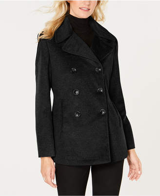 Calvin Klein Petite Double-Breasted Peacoat