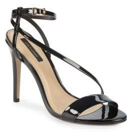 Ava & Aiden Patent Leather Ankle Strap Stiletto Sandals