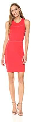 Armani Exchange A|X Women's Sleeveless Work Dress with Piping