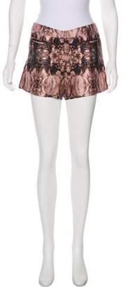 Thomas Wylde Printed Embellished Shorts