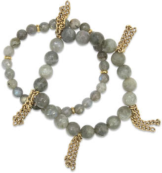Electric Picks Labradorite Fringe Bracelets (Set of 2)