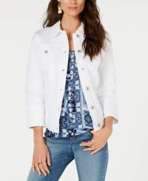 Style&Co. Style & Co Petite Wide Cuff Denim Jacket, Created for Macy's
