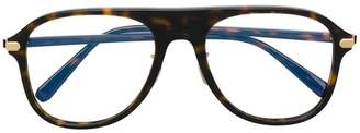 Brioni aviator shaped glasses
